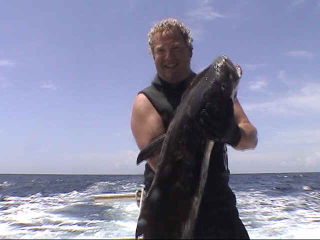 Cliff has a very nice Cobia for dinner - Dive Hatteras Photo