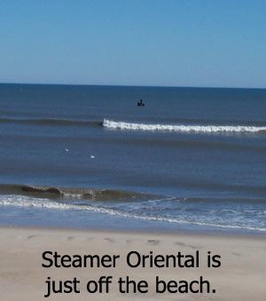 The steamer Oriental wreck.  Dive Hatteras Photo