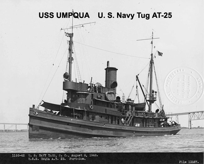 USS Umpqua - tug that rescued the Liberator crew