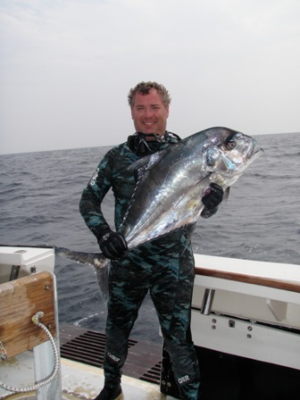 Cliff scores a large African Pampano at the Proteus