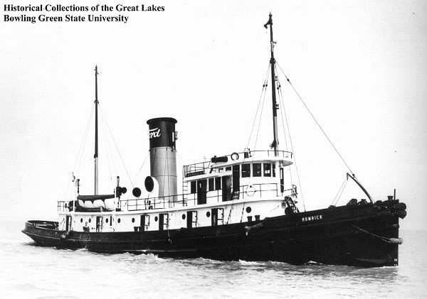 Tug Humrick, sister ship to Keshena, photo from Historical Collections of the Great Lakes, Bowling Green State University