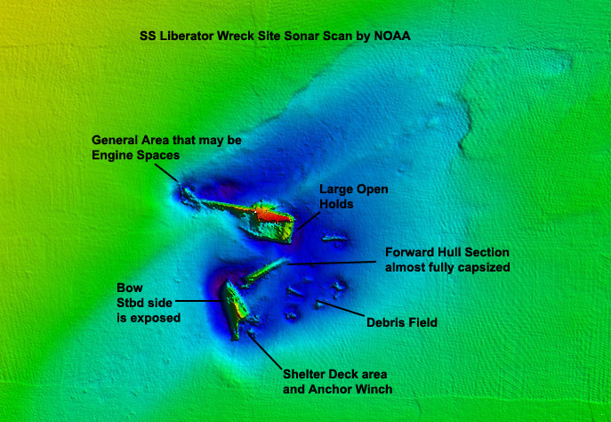 NOAA Sonar Scan of SS Liberator